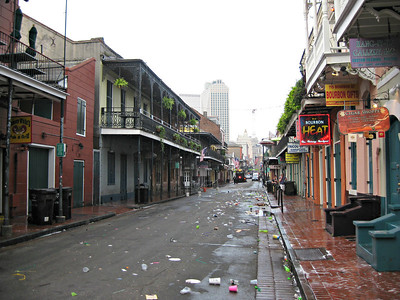 """Cleaning the effects of Bourbon"" - Daily Photo - 01/01/13  Happy New Year!  Bourbon Street, New Orleans, Louisiana"