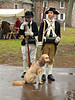 """Reenactment at Washington's Crossing in December"" - Daily Photo - 02/22/13  I spent the day at the dress rehearsal for the reenactment of Washington's crossing the Delaware River.  It was a cold damp miserable day and I gained a lot of respect for everyone both in attendance and particularly those participating.  The young man on the right was actively involved in many facets of the event and knew how to identify a Brown Bess, which impressed me.  The dog was being ""pimped"" by his owner for posing in pictures, it was worth the price of admission!  This pup found its way in several of my shots.  Hope you enjoy!"