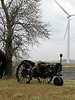 """Old & New: Old Tractor and a New Windmill from the Archives"" - Daily Photo - 04/30/13  Never got around to posting this shot and added it as I'm cleaning up the last of my Winter pictures.  Hope you enjoy!"