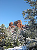 """My in-laws' backyard view"" - Daily Photo - 03/17/13  Sedona, Arizona in the snow.  Thanks for all of the comments on my home."